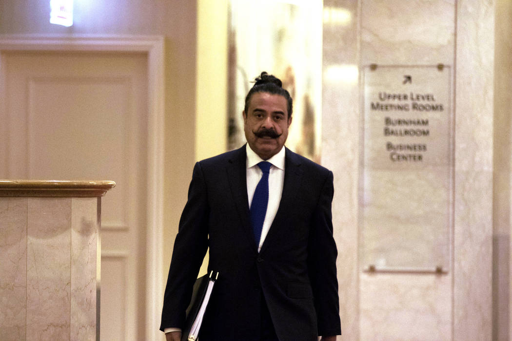 Jacksonville Jaguars owner Shahid Khan arrives at the JW Marriott hotel in Chicago, Ill., for the NFL owners meeting on Tuesday, May 23, 2017. Heidi Fang/Las Vegas Review-Journal @HeidiFang