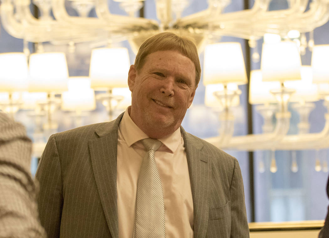 Oakland Raiders owner Mark Davis at the NFL owners meeting at the JW Marriott hotel in Chicago, Ill., on May 23, 2017. Heidi Fang/Las Vegas Review-Journal @HeidiFang