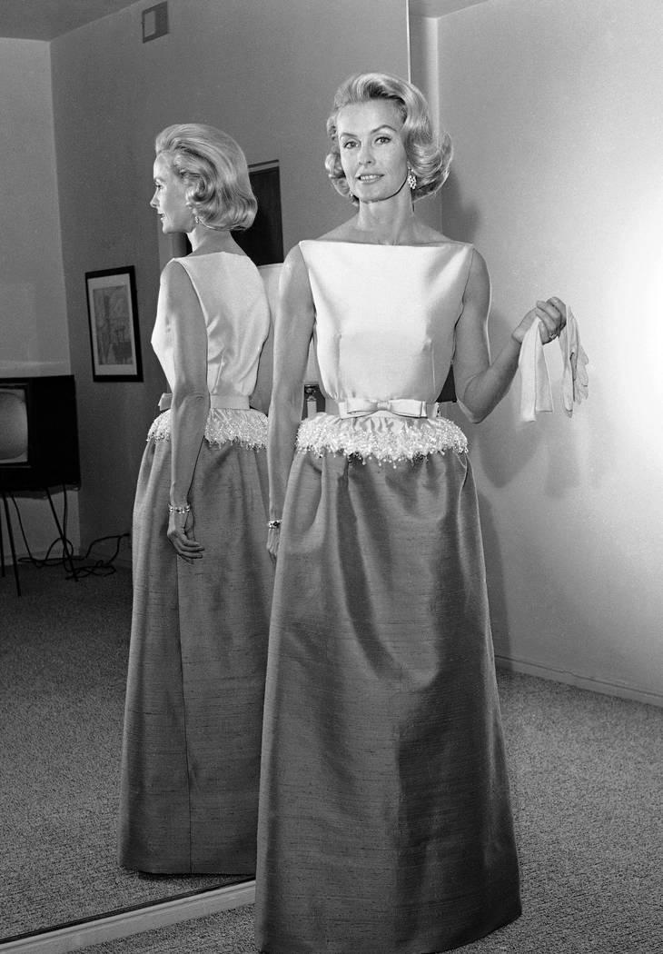 Dina Merrill models a gown April 6, 1962. (Harold P. Matosian/File, AP)