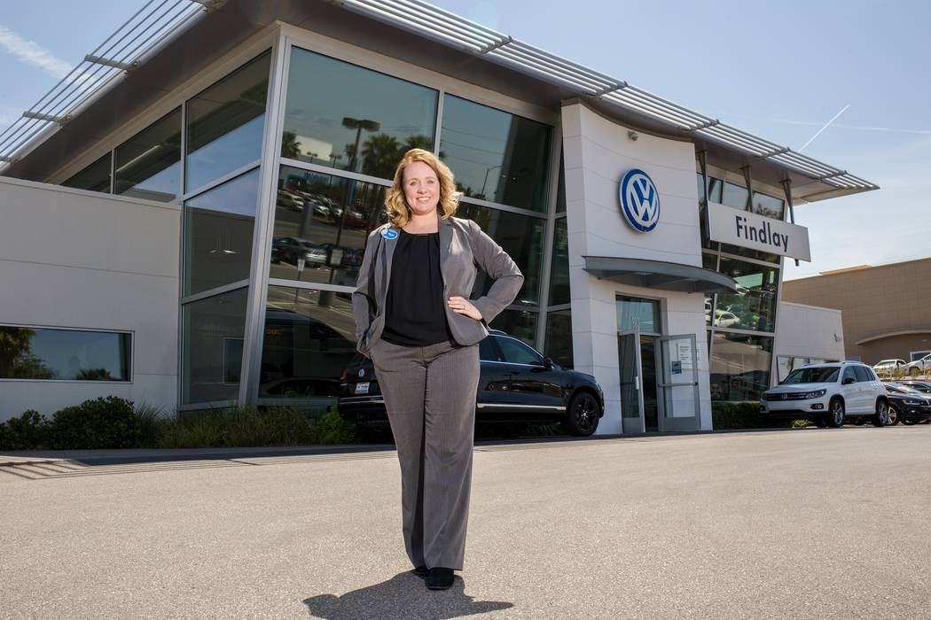 Findlay New Findlay Volkswagen Henderson General Manager Melisa Eichbauer is seen at the dealership at 983 Auto Show Drive in the Valley Automall.