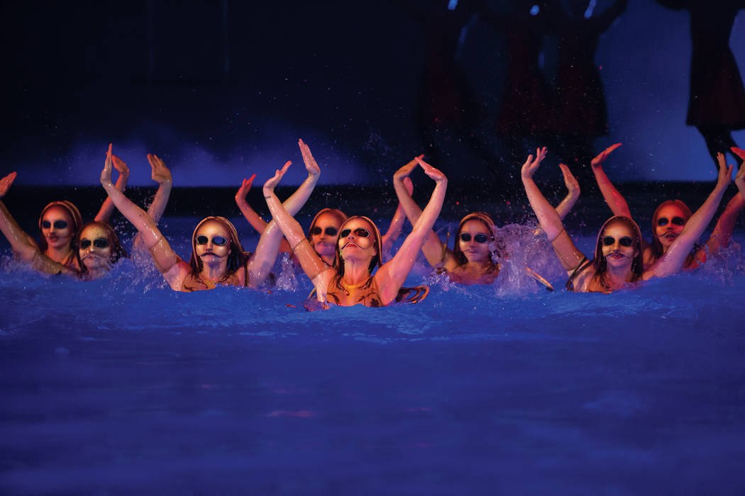 "Brynn Coseru is one of the synchronized swimmers in ""O."" Photo courtesy of Cirque du Soleil"