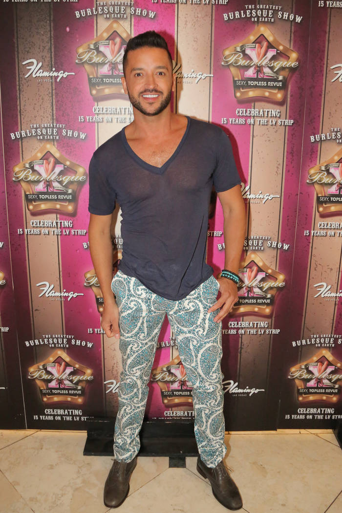 """Jai Rodriguez attends a party for """"X Burlesque"""" at The Flamingo on Thursday, May 18, 2017, in Las Vegas. (Edison Graff/Stardust Fallout)"""