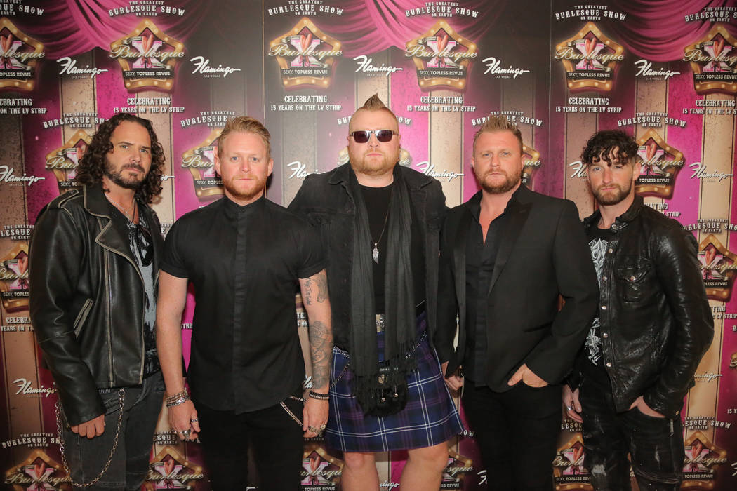 """Tenors of Rock attends a party for """"X Burlesque"""" at The Flamingo on Thursday, May 18, 2017, in Las Vegas. (Edison Graff/Stardust Fallout)"""