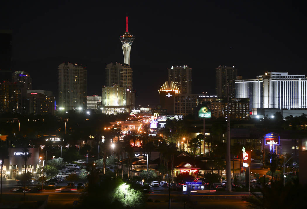 A portion of the Las Vegas skyline on Tuesday, May 23, 2017. Chase Stevens Las Vegas Review-Journal @csstevensphoto