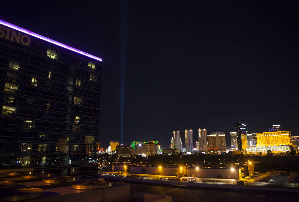 A portion of the Las Vegas skyline as shown from the Hard Rock Hotel on Tuesday, May 23, 2017. Chase Stevens Las Vegas Review-Journal @csstevensphoto