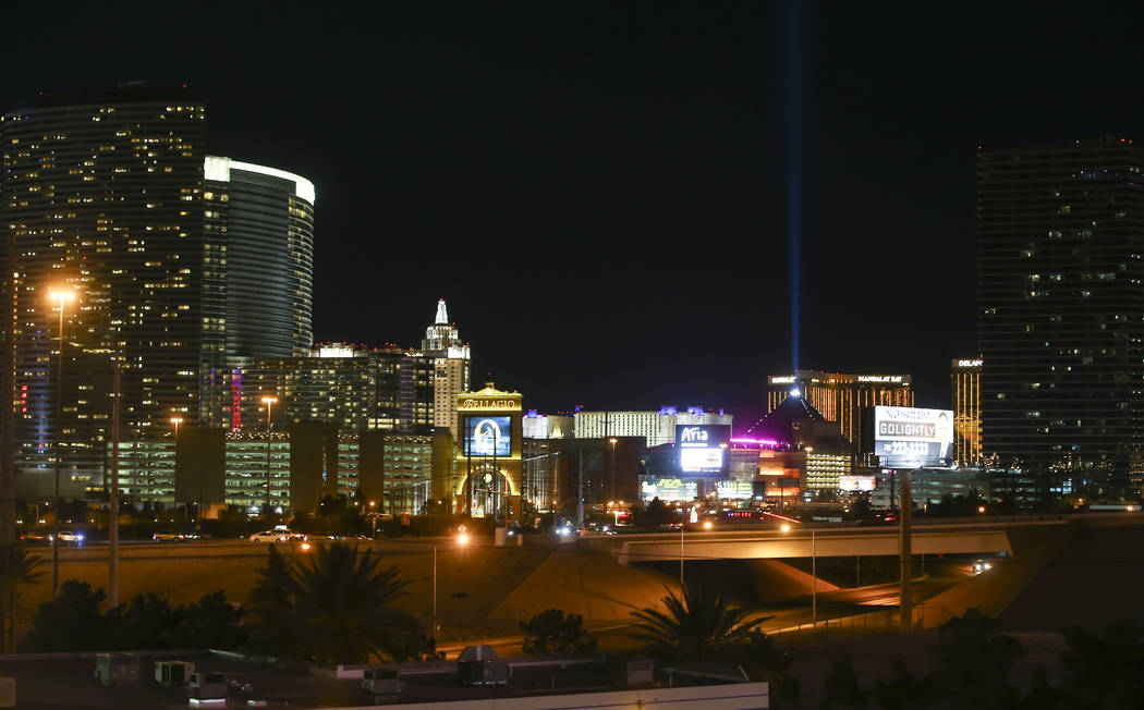 A portion of the Las Vegas skyline as shown from the Rio hotel-casino on Tuesday, May 23, 2017. Chase Stevens Las Vegas Review-Journal @csstevensphoto