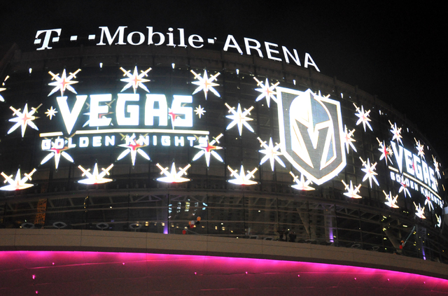 The Vegas Golden Knights will take the ice at T-Mobile Arena for their first home game on Oct. 10, 2017, according to majority owner Bill Foley. (Buford Davis/Business Press)