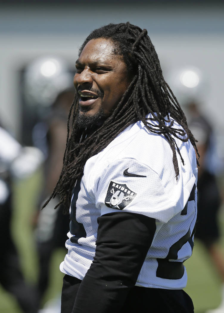 2751e76b099 Oakland Raiders running back Marshawn Lynch during an NFL football team  activity Tuesday
