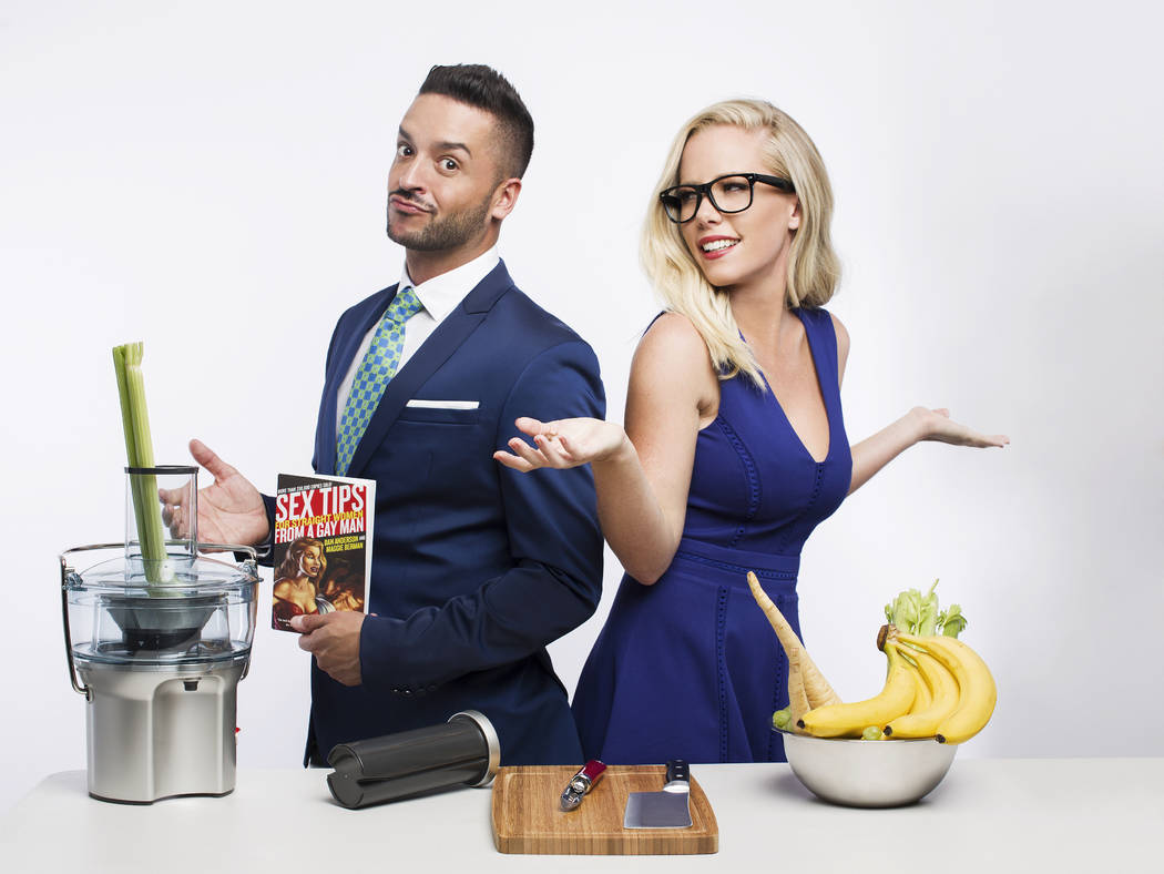 "Jai Rodriguez and Kendra Wilkinson star in ""Sex Tips for Straight Women From a Gay Man"" at Paris Las Vegas. (SPI Entertainment)"