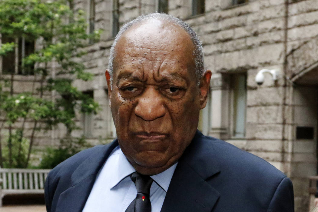 Bill Cosby pauses in the courtyard of the Allegheny County Courthouse as one of his attorneys makes a statement to the media Wednesday, May 24, 2017, in Pittsburgh. (Gene J. Puskar/AP)