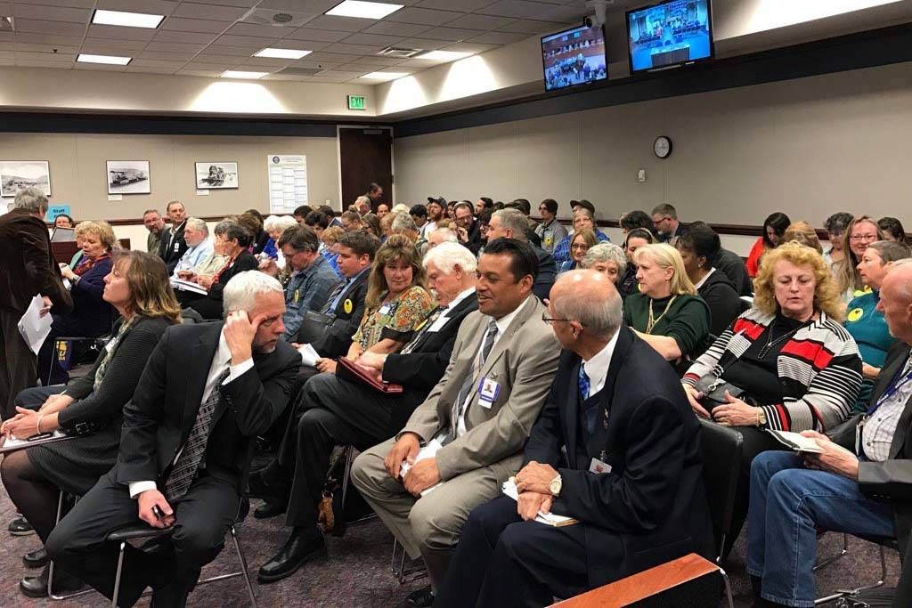 Supporters of Senate Bill 413, which would declare Public Lands Day in Nevada, packed the Senate Committee on Government Affairs hearing on Monday in the Legislative Building in Carson City on Mon ...