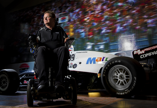 Sam Schmidt, an ex-IndyCar driver paralyzed in a January, 2000 crash, poses for a photo at his home in Henderson, Nevada on Thursday, June 23, 2016. Benjamin Hager/Las Vegas Review-Journal