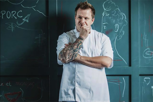 Chef owner Brian Howard of Sparrow + Wolf in Las Vegas.