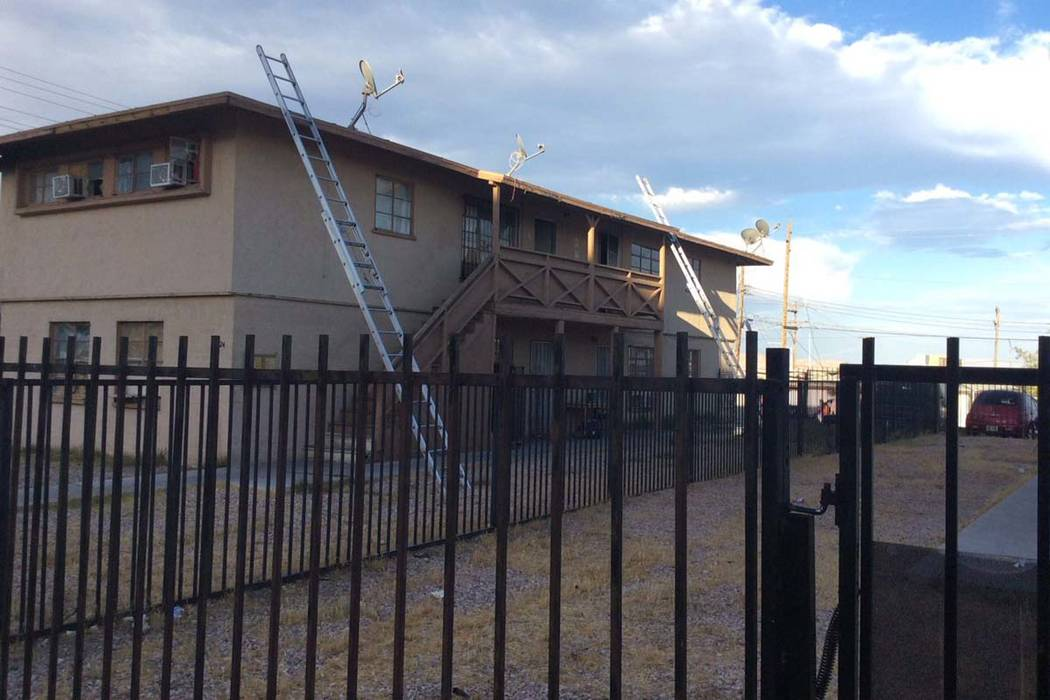 Las Vegas Fire Department responded to a fire at 224 N. 13th St. near Stewart Avenue on Wednesday, May 24, 2017 (LasVegasFD/Twitter)