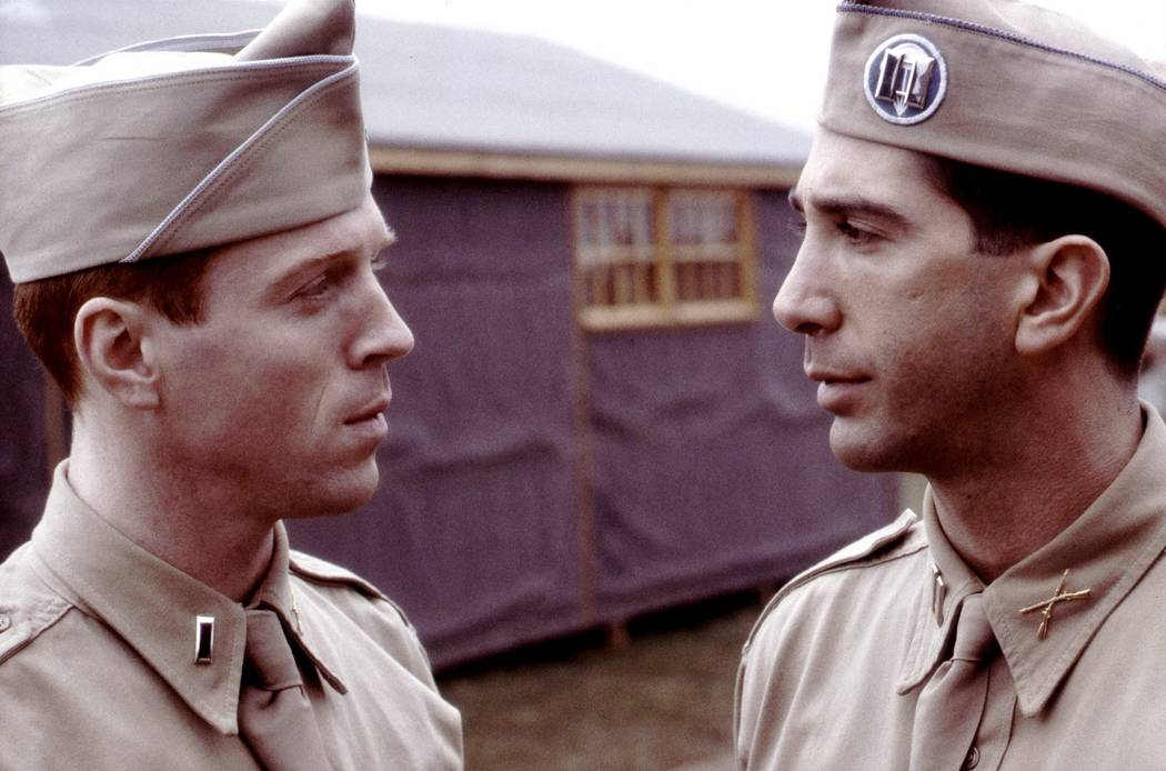 "David Schwimmer and Damian Lewis in ""Band of Brothers."" (HBO)"
