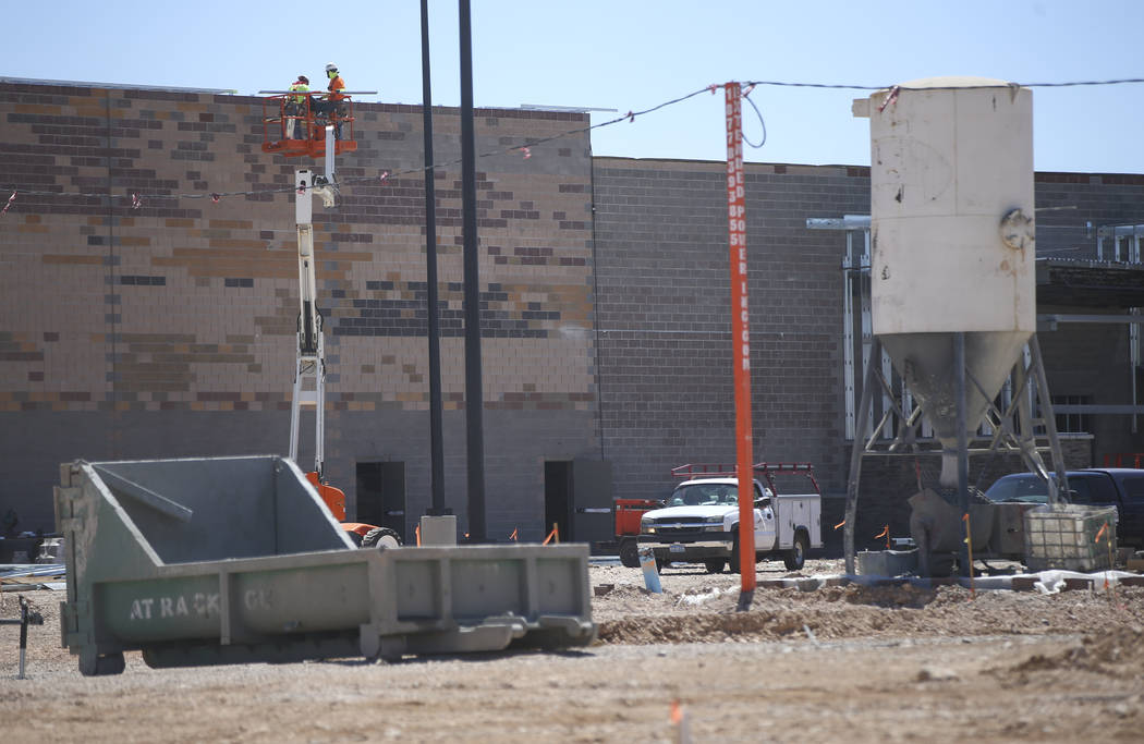 Construction goes on at Walmart at Rainbow Boulevard and Blue Diamond Road in Las Vegas on Friday, May 26, 2017. Chase Stevens Las Vegas Review-Journal @csstevensphoto
