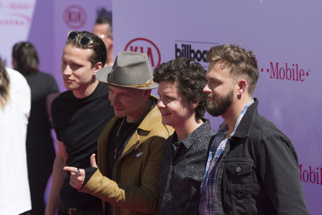 Lukas Graham arrives at The Billboard Music Awards at T-Mobile Arena on Sunday, May 22, 2016, in Las Vegas. (Jason Ogulnik/Las Vegas Review-Journal)