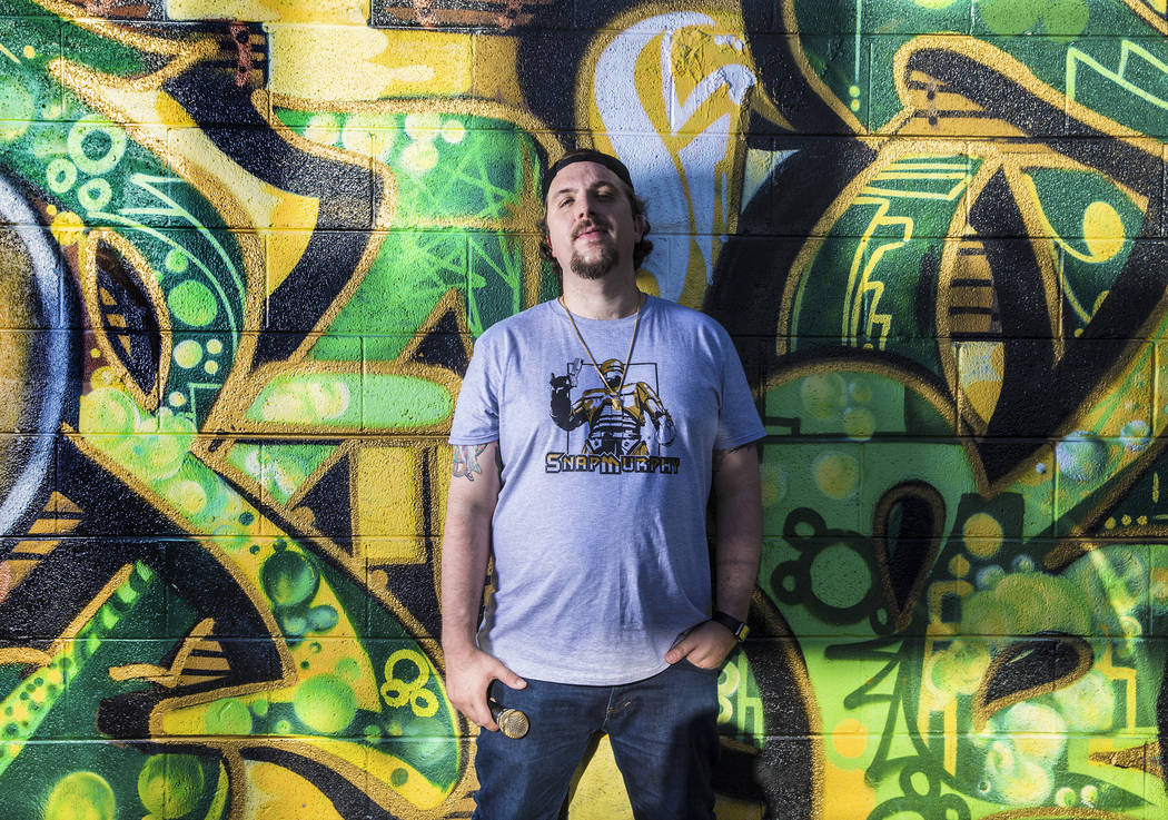 """Rapper Matt """"Snap"""" Murphy in the Las Vegas Arts District on Sunday, May 28, 2017. """"I want to lift people up,"""" said Murphy. """"I won't stop until I reach my dream."""" Benjamin Hager Las Vegas Review-Jo ..."""