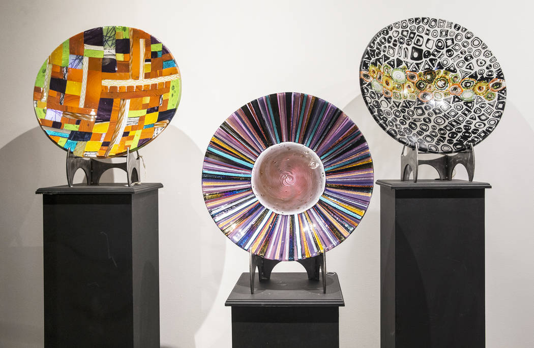 Artwork by Larry and Barbara Domsky on Thursday, April 6, 2017, at Domsky Glass, in Las Vegas. The Domsky's are resident artists at the Wynn Las Vegas hotel-casino, and their clients include Nike, ...
