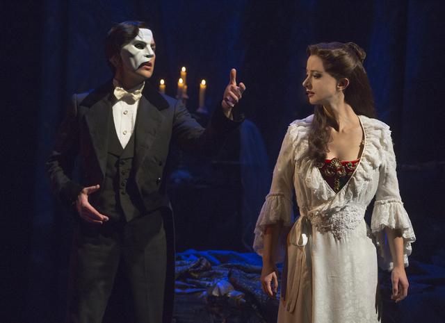 "Chris Mann and Katie Travis in ""The Phantom of the Opera."" (Matthew Murphy)"