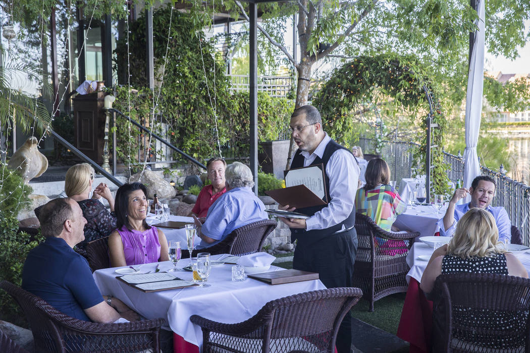 Dinner guests place their order on the patio at Americana on Saturday, May 20, 2017, in Las Vegas. Benjamin Hager Las Vegas Review-Journal @benjaminhphoto