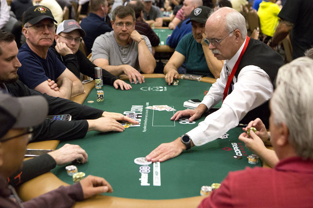 People play poker at the Rio Convention Center on Tuesday, May 30, 2017 in Las Vegas. The 48th annual WSOP begins Wednesday and will continue for the following seven and a half weeks. Bridget Benn ...