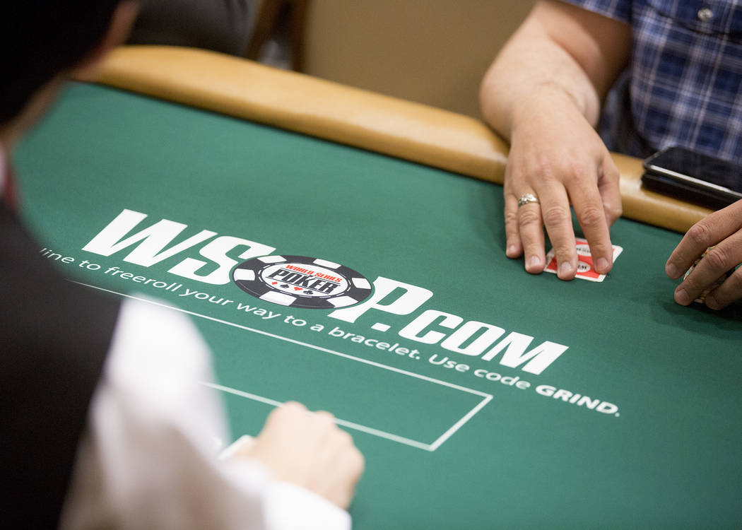 People play poker at the Rio Convention Center on Tuesday, May 30, 2017 in Las Vegas.  The 48th annual WSOP begins Wednesday and will continue for the following seven and a half weeks. Bridget Ben ...