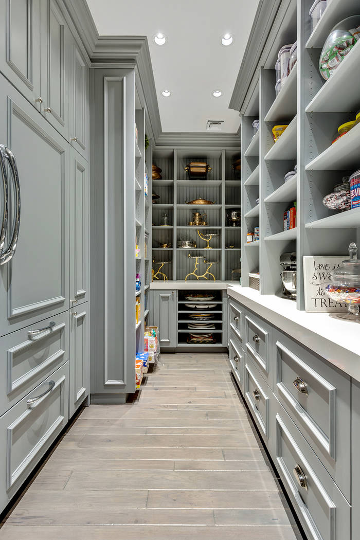 Lots of storage in the butler's pantry. (The Tom Love Group)