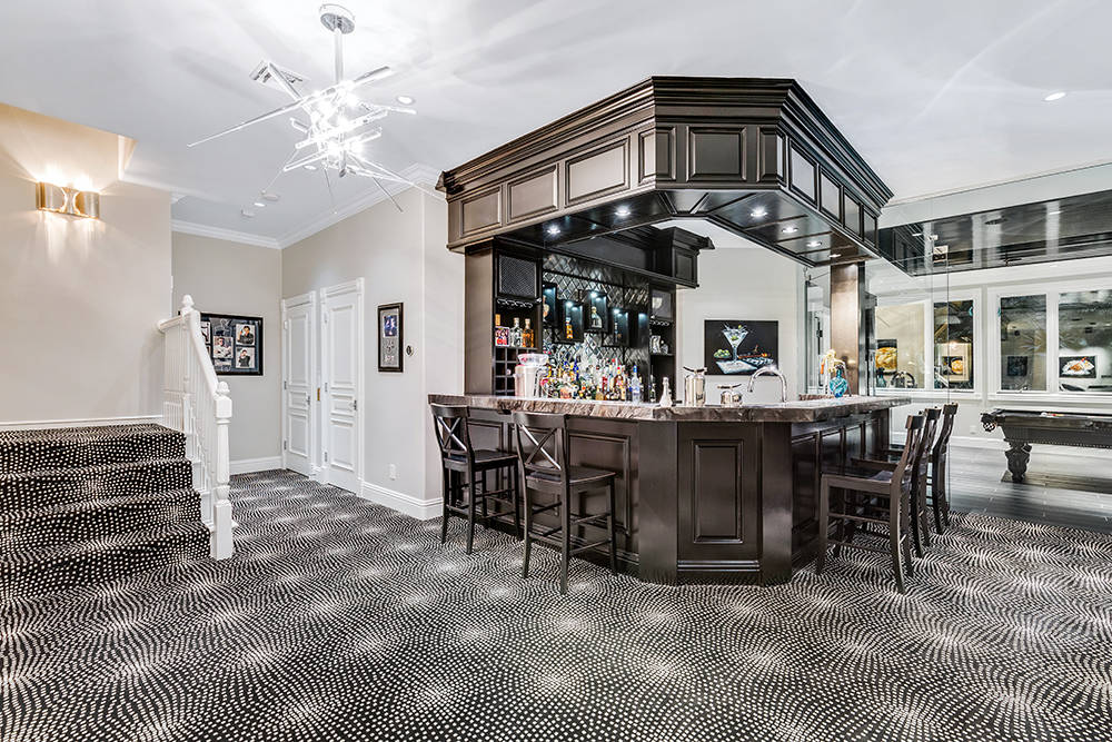 In the basement is a large bar. (The Tom Love Group)