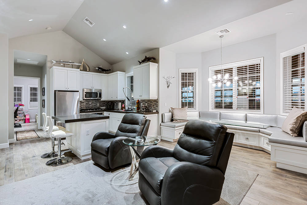 The guest home has a kitchen and living area. (The Tom Love Group)