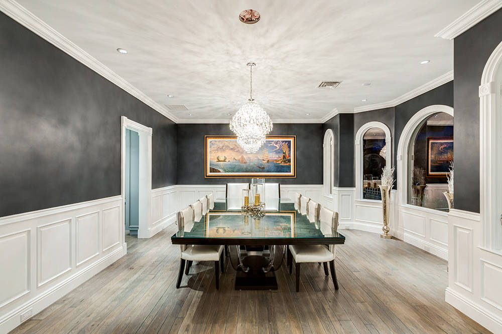 The home has a formal dining room. (The Tom Love Group)