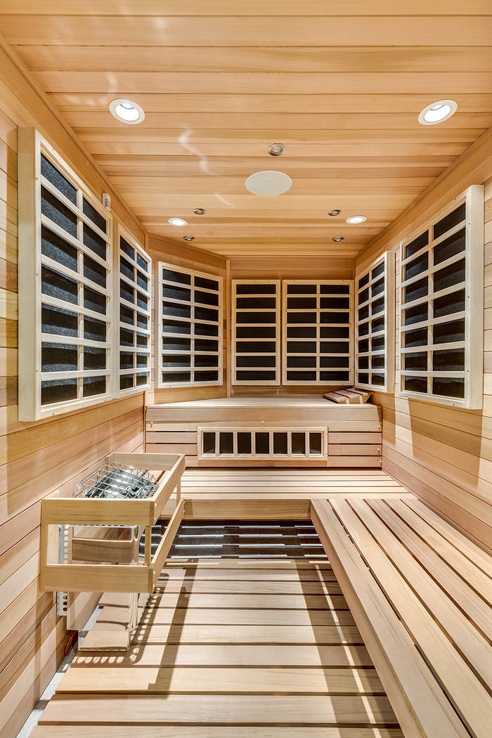 Tom and Shannon Love added an infrared paneled sauna. (The Tom Love Group)