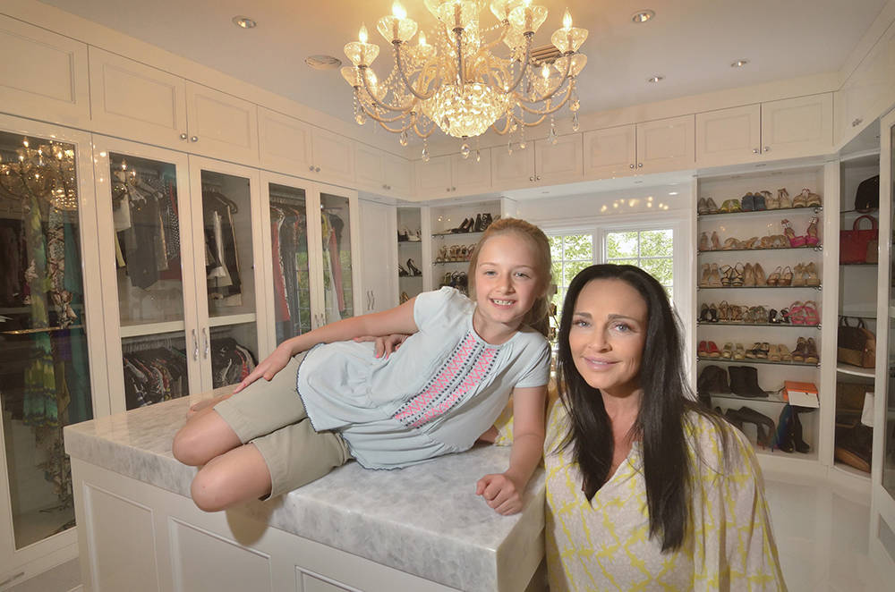 Shannon Love is shown in her closet area with her daughter Siara. (Bill Hughes/Las Vegas Business Press)
