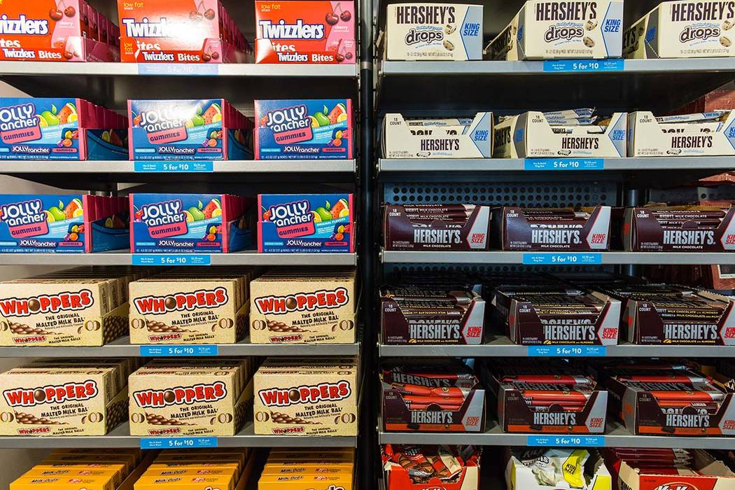 Boxes of Hershey candy are for sale at the Hershey's Chocolate World store in New York. (Timothy Fadek/Bloomberg)