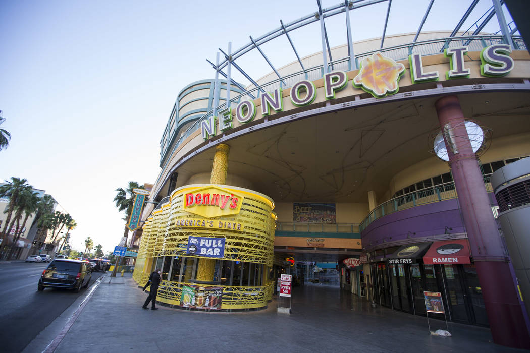 Neonopolis located at 450 Fremont Street in downtown Las Vegas on Friday, May 26, 2017. Richard Brian Las Vegas Review-Journal @vegasphotograph