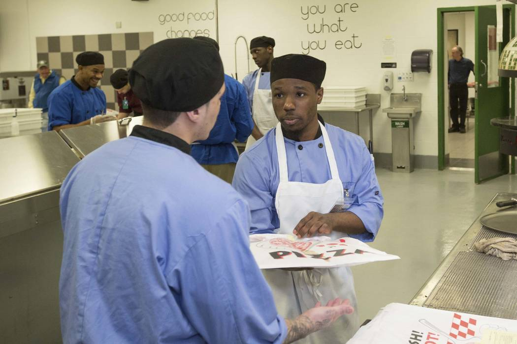 "Cook County inmates in the Chicago jail's medium-security Division 11 are now allowed to order pizzas made by inmates who are participating in the jail's ""Recipe for Change"" program. (Teresa Crawf ..."