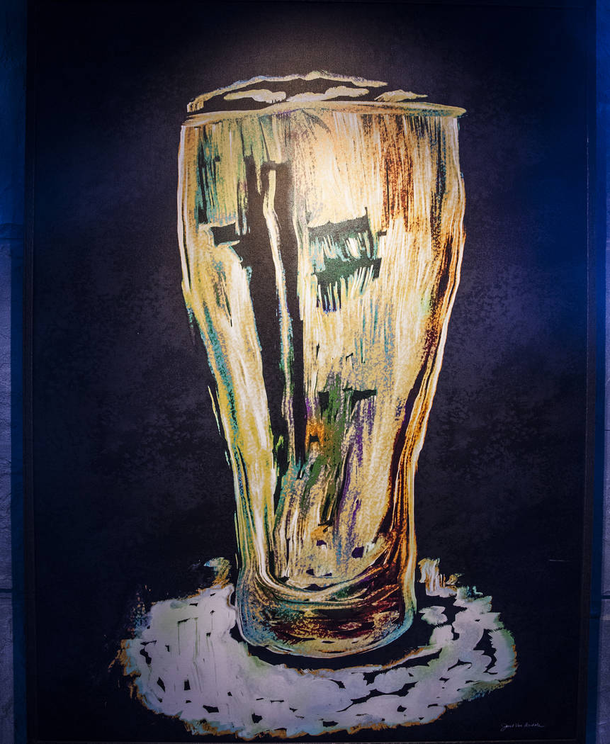 Beer-themed artwork at PT's Brewing Company on Tuesday, April, 4, 2017, in Las Vegas. (Benjamin Hager/Las Vegas Review-Journal) @benjaminhphoto