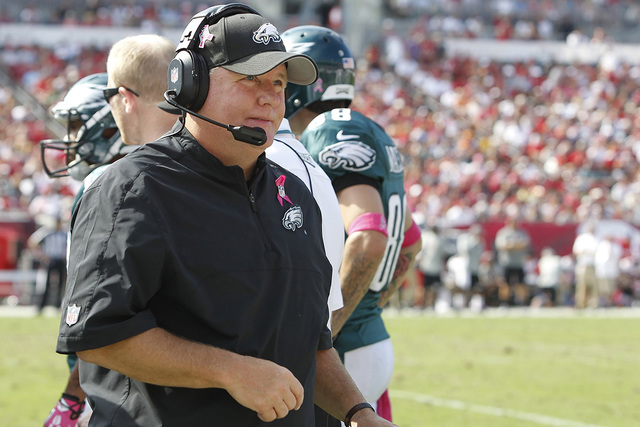Oct 13, 2013; Tampa, FL, USA; Philadelphia Eagles head coach Chip Kelly during the second half against the Tampa Bay Buccaneers at Raymond James Stadium. Philadelphia Eagles defeated the Tampa Bay ...