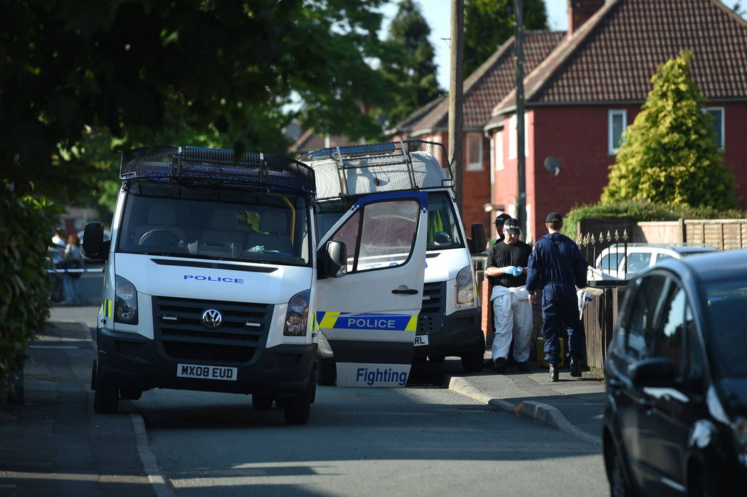 Greater Manchester Police said another suspect was detained in Wigan, a town to the west of Manchester. ( Joe Giddens/AP)