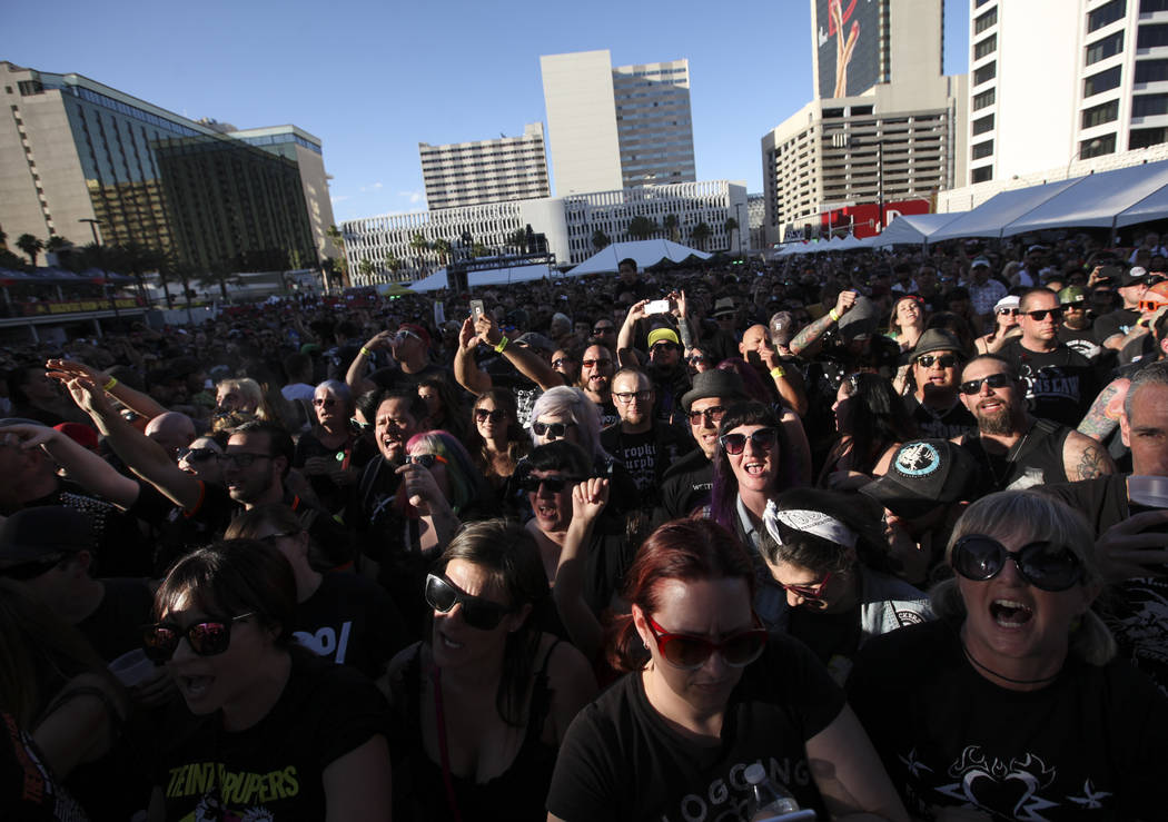 Fans during Punk Rock Bowling at the Downtown Las Vegas Events Center on Saturday, May 27, 2017. Chase Stevens Las Vegas Review-Journal @csstevensphoto