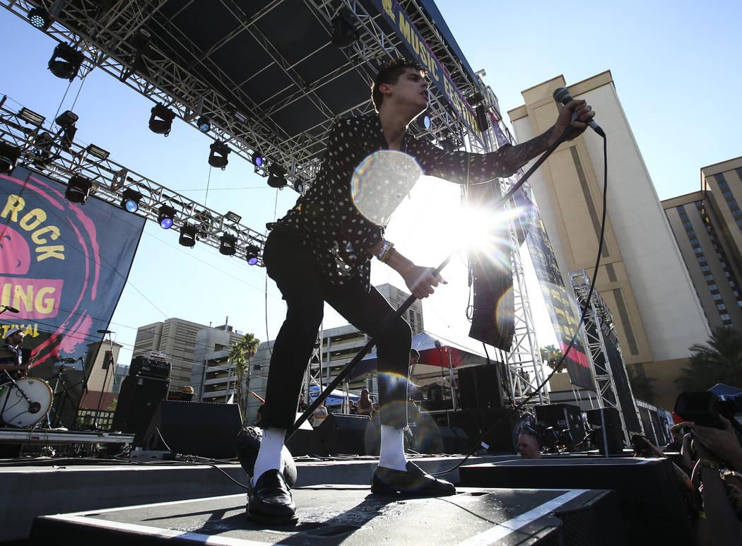 Brandon Blaine of Plague Vendor performs during Punk Rock Bowling at the Downtown Las Vegas Events Center on Saturday, May 27, 2017. Chase Stevens Las Vegas Review-Journal @csstevensphoto