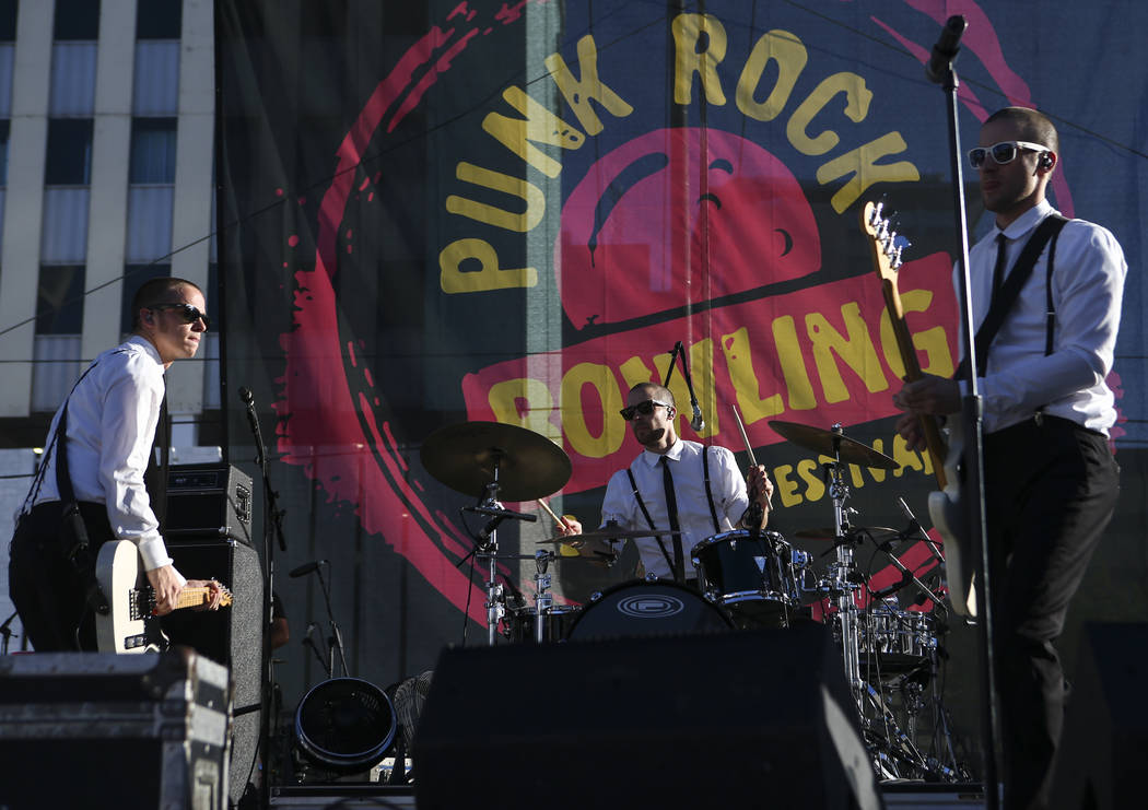 The Interrupters perform during Punk Rock Bowling at the Downtown Las Vegas Events Center on Saturday, May 27, 2017. Chase Stevens Las Vegas Review-Journal @csstevensphoto