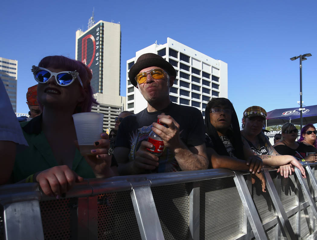 Fans watch Plague Vendor during Punk Rock Bowling at the Downtown Las Vegas Events Center on Saturday, May 27, 2017. Chase Stevens Las Vegas Review-Journal @csstevensphoto