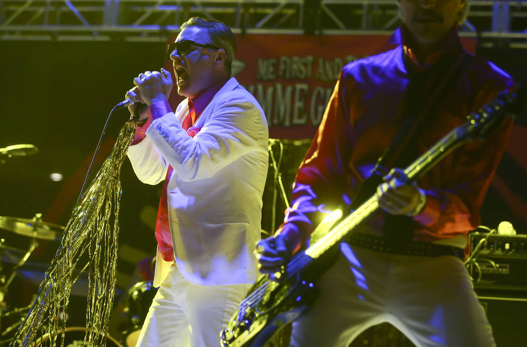 Spike Slawson of Me First and the Gimme Gimmes performs during Punk Rock Bowling at the Downtown Las Vegas Events Center on Saturday, May 27, 2017. Chase Stevens Las Vegas Review-Journal @cssteven ...
