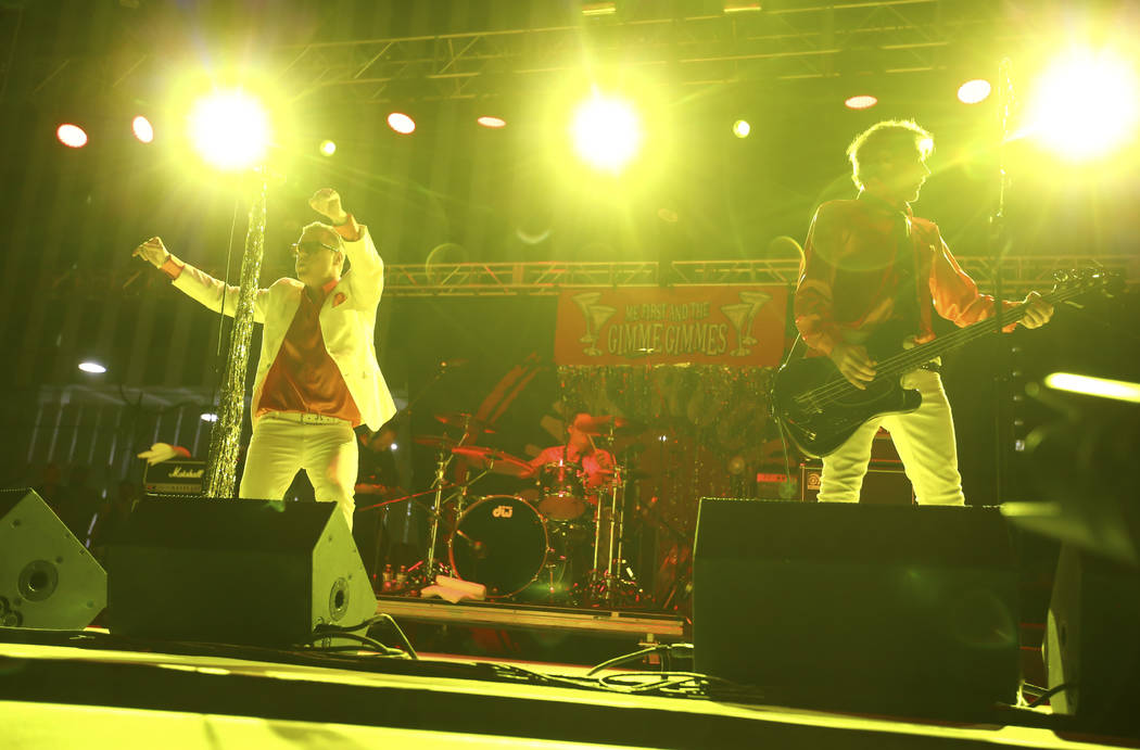 Me First and the Gimme Gimmes perform during Punk Rock Bowling at the Downtown Las Vegas Events Center on Saturday, May 27, 2017. Chase Stevens Las Vegas Review-Journal @csstevensphoto