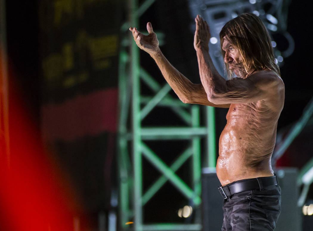 Iggy Pop performs during Punk Rock Bowling at the Downtown Las Vegas Events Center on Saturday, May 27, 2017. Chase Stevens Las Vegas Review-Journal @csstevensphoto