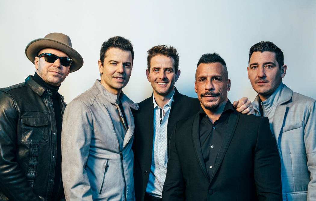 Donnie Wahlberg, Jordan Knight, Joe McIntyre, Danny Wood and Jonathan Knight of New Kids on the Block. (Joseph Llanes)