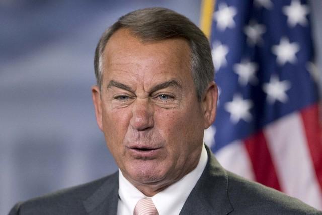 John Boehner during a news conference. (AP Photo/Manuel Balce Ceneta)