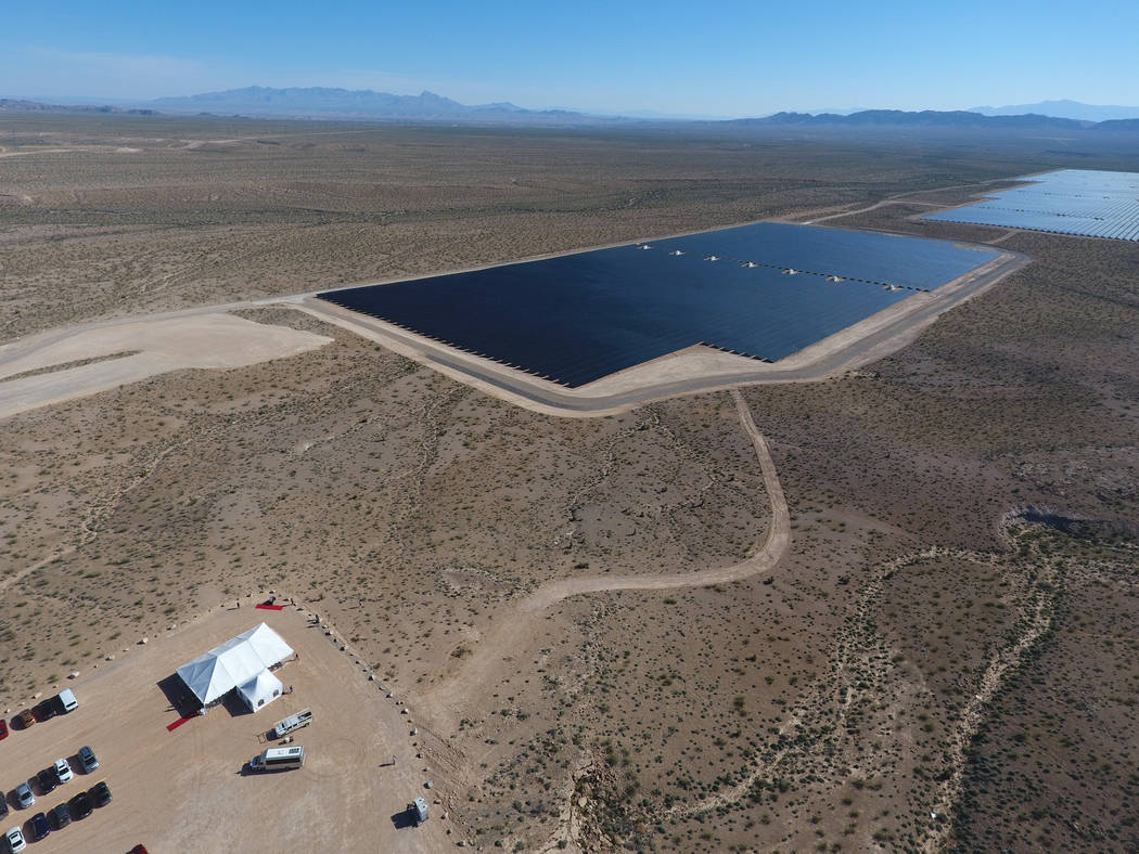 The 2,000 acre Moapa Southern Paiute Solar Project holds it's commissioning event on March 17, 2017, for the first utility-scale solar array built on tribal land that produces enough clean  ...