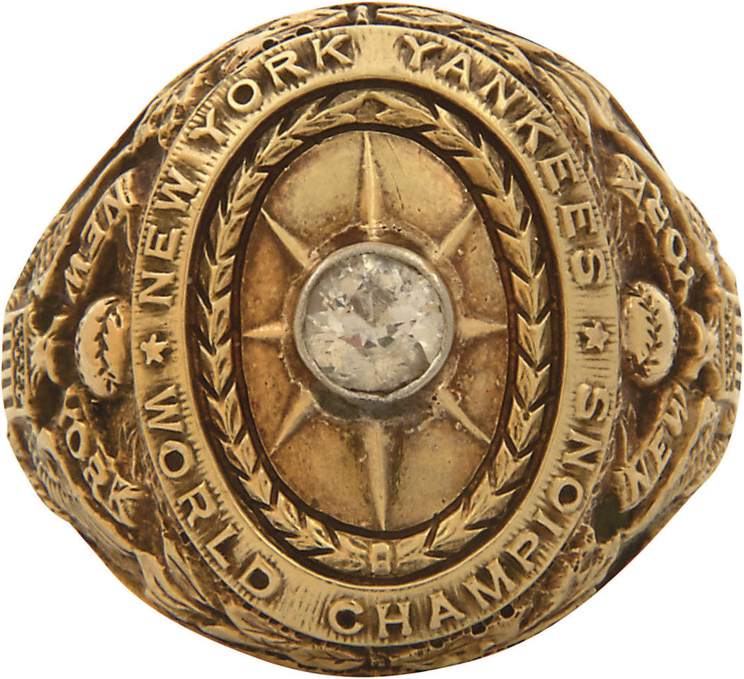This undated image provided by Lelands.com, shows New York Yankee's' Babe Ruth's 1927 World Series ring. The ring is part of Lelands.com 1st Annual Invitational Auction, which closes June 30, 2017 ...
